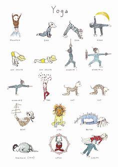 poster yoga niños