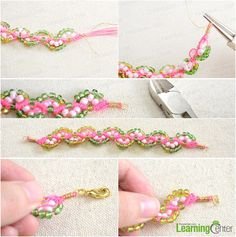 Step 2: Attach clasp to finish the braided bracelet