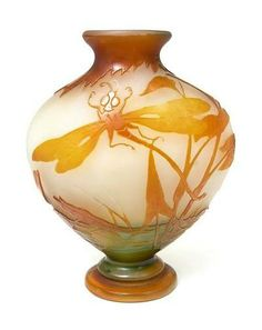 dragonfly in french cameo glass