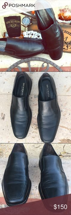💥Last Chance:Men's Party4/10💥Bruno Magli Loafer Bruno Magli's gently pre-owned men's slip-on loafers. Fancy double-gore and supple Nappa black leather make this shoe a must-have for your stylish wardrobe. Slight creasing on top of left shoe (see pics). Heels and soles are in excellent condition. These are a different size than the New black Bruno Magli's listed. These are size 10W. Quality design and hand made in Italy 🇮🇹 Bruno Magli Shoes Loafers & Slip-Ons
