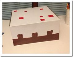 Minecraft cake box for cupcakes