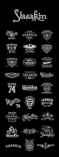 different ways to do one brand, each having some nice intricate designs  definitely counts for all 20 of the logos i need to pin