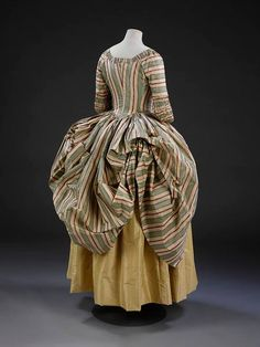BACK: Robe, Polonaise Place of origin: England (made) Date: ca. 1775 (made) Materials and Techniques: Silk lined with linen
