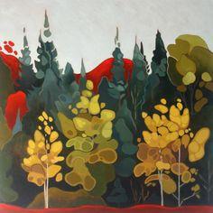 Leanne Baird - Peterborough artist Birches and Spruce