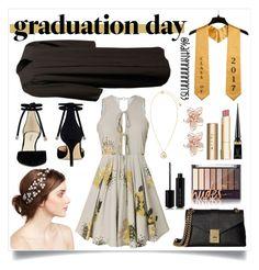 """Graduation Day"" by kaitlynnnnnnn753 on Polyvore featuring Jennifer Behr, Nine West, Calvin Klein, Stila, Marc Jacobs, Christian Louboutin, NAKAMOL and Versace"