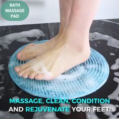 Good circulation is vital to a persons health. Foot massage is one of the different ways to improve foot and leg circulation for a happier and healthier you. Tips Bathroom Bath Massage Pad House Cleaning Tips, Deep Cleaning, Cleaning Hacks, Foot Brush, Circulation Sanguine, Foot Massage, Useful Life Hacks, Feet Care, Clean House