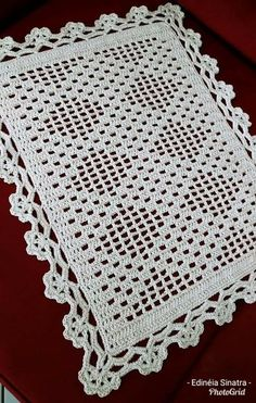 Best 12 Baby Pink and White Crochet Blanket /Open Weave Lace / Shower Gift / Girl Blanket / Cotton Yarn – SkillOfKing. Crochet Flower Patterns, Crochet Stitches Patterns, Doily Patterns, Thread Crochet, Filet Crochet, Crochet Motif, Crochet Doilies, Crochet Placemats, Crochet Table Runner