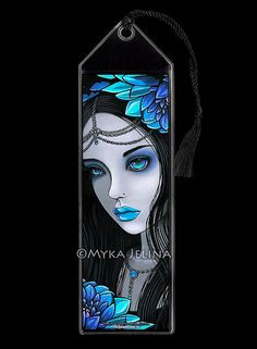 NEW Gothic Fairy Blue Moon Lotus Flower Nalin BOOKMARK by MykaJelina
