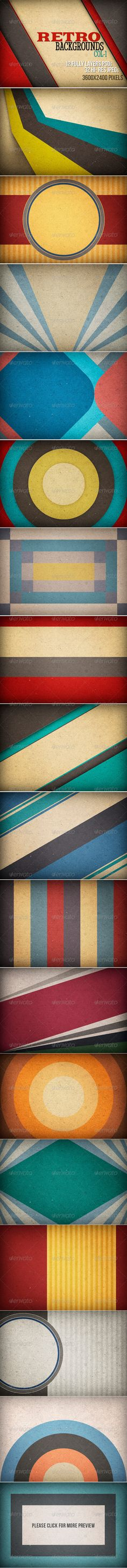Retro Backgrounds 3600×2400 px, 300 dpi #design Download: http://graphicriver.net/item/retro-backgrounds/5666344?ref=ksioks