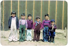 Japanese-American children at the Heart Mountain internment camp