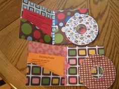 Mixed CD's with Scrapbook Paper jackets