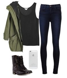 Don't know what the phone has to do with the outfit...but besides that loving the laid back style of this!