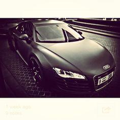 Exceptional Matte Black Audi R8