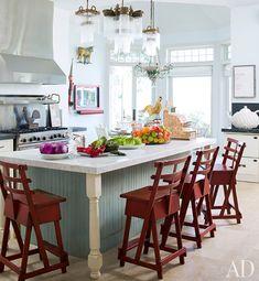 Sharon and Ozzy Osbourne's Kitchen | http://www.architecturaldigest.com/homes/features/2012/03/celebrity-kitchen-design-slideshow#slide=1