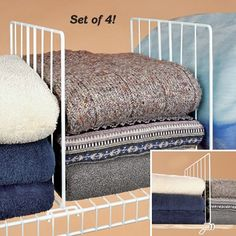 Shelf Dividers For Your Closet ~ Day #20   Shelf Dividers, Divider And  Wooden Shelves
