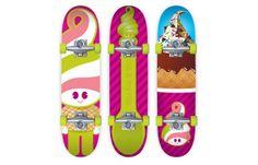 Menchie's Frozen Yogurt skate board merchandise. Case study available!