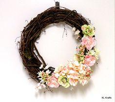 Hydrangea Wreath Spring Hydrangea Grapevine Wreath by KimLKrafts