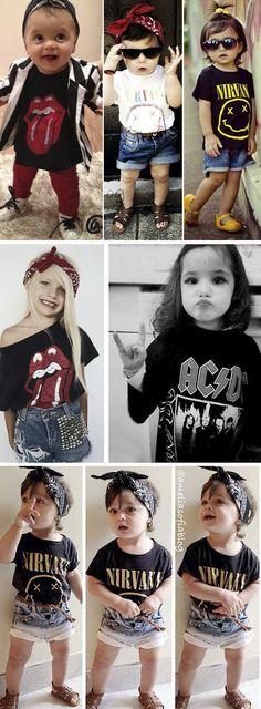 #RockDay - http://www.falardemoda.com.br/artigos-de-moda/634/dia-de-rock-bebe.html