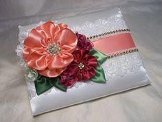 Marfil Coral fucsia flor niña cesta anillo por AllAHeartDesires