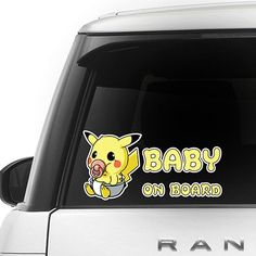 [ Pikachu ] BABY ON BOARD SERIES FOR CAR