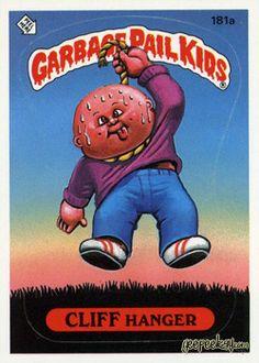 GARBAGE PAIL KIDS - Original Series 5 Card Collection —Cliff Hanger