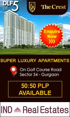 DLF Developer is providing the best opportunity for home seeker and investor both to invest in through DLF Crest which is located in Sector 54, on Gold Course Road Gurgaon. https://www.indrealestates.com/project/dlf-crest/