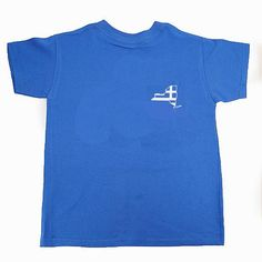 New York New York State Map Greek Flag T-Shirt - Small Map Only / Adult Large