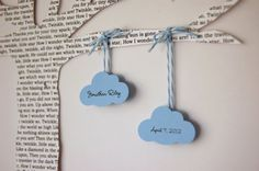 Cloud Baby Gift, Personalized 3D Lyric Tree - made from a lullaby or children's song of your choice - Unique Baby Shower Gift, Nursery Decor. $60.00, via Etsy.