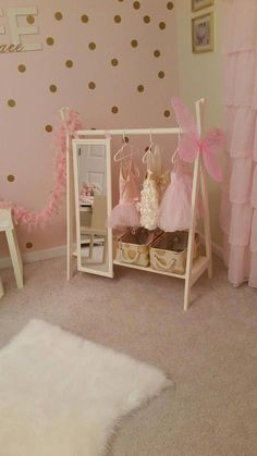 baby girl nursery room ideas 364369426101708084 - Dress Up Wardrobe Rack w/ Mirror Ivory Toddler's clothing Source by Baby Bedroom, Nursery Room, Girl Nursery, Baby Girl Bedroom Ideas, Bedroom Kids, Ballerina Nursery, Baby Girl Room Decor, Decor Room, Baby Decor