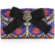 Gucci Broadway Lurex Floral Jacquard Clutch ($1,250) ❤ liked on Polyvore featuring bags, handbags, clutches, apparel & accessories, flower print purse, floral purse, gucci handbags, gucci pochette and floral print purse