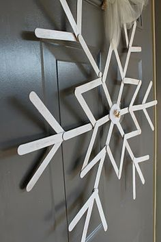 "a ""snowflake""!  cute popsicle stick craft"