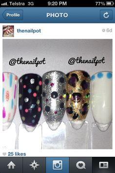 Follow me on IG! @thenailpot for shellac nailart xx