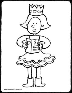 Emma cumple años - dibujo - dibujo para colorear - lámina para colorear Bold Colors, Colours, Birthday Coloring Pages, Crazy Outfits, Carnival Masks, Pictures To Draw, Craft Activities, Boy Birthday, Favorite Color