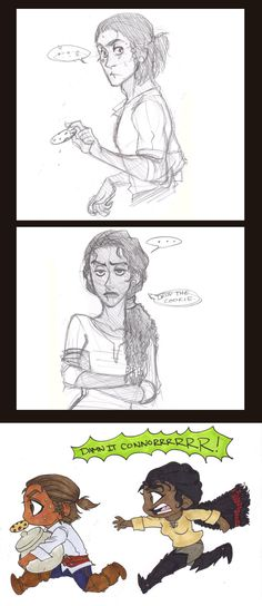 Connor and Aveline :) I ship it! Connor has a cookie addiction by sunflowermints.deviantart.com on @deviantART