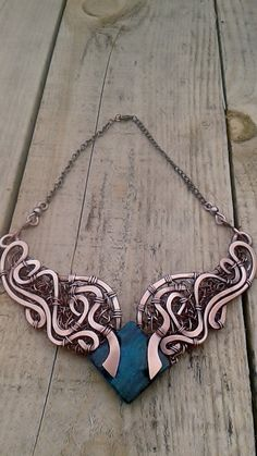Copper wire necklaceHandmade copper wire necklace от Tangledworld