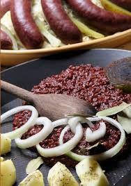 Polish Kaszanka - Black-putting with fried onions