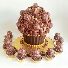 ferrero rocher giant cupcake - Google Search