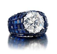 Anel Safira + Diamante