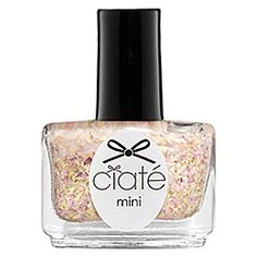 Ciaté Mini Paint Pot Nail Polish and Effects in Beam Me Up Lottie - gold and pastel pink fleck glitter #sephora