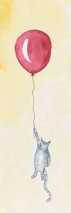 Kitty with Balloon