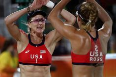 Kerri Walsh Jennings and April Ross - Beach Volleyball 2016