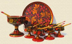 """Golden Khokhloma - """"Hohloma"""" - is one of the oldest and unique Russian handicrafts that has been forming the tenor and mode of life of many generations and is an integral part of Russian culture."""