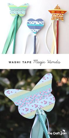 Washi tape magic wands with free printable template