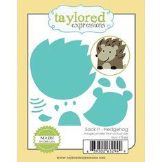 Taylored Expressions Sack It Hedgehog Die Hedgehog Craft, Impression Obsession, Card Making Supplies, Mama Elephant, Groundhog Day, Die Cut Cards, Punch Art, Hero Arts, Big Shot