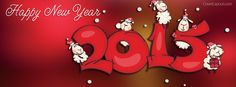 Happy New Year 2015 Facebook Cover coverlayout.com
