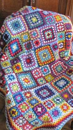 Granny square blanket Aunt Agatha by TanteJeanne on Etsy