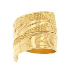 Native Jewellery - James McGuire Hummingbird Gold Wrap Ring Hummingbird, Cuff Bracelets, Jewelery, Rings, Gold, Jewlery, Jewels, Schmuck, Ring