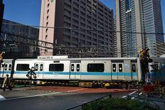 Odakyu line near Shinjuku Station, Japan
