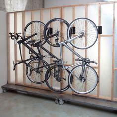 Sports Velo Hinge Bike Storage Rack Black In-Use (Black) 3 of theseIn-Use (Black) 3 of these Bicycle Storage Garage, Outdoor Bike Storage, Bike Storage Rack, Garage Storage, Garage Organization, Vertical Bike Storage, Bike Hooks, Bicycle Rack, Hanging Bike Rack