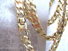 22 inch 9ct gold solid heavyweight curb chain (102g)